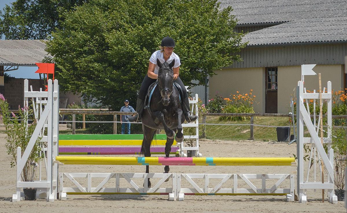 les concours d'équitation du cavaletti nivernais près de Nevers dans la Nièvre